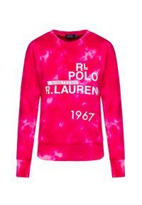 Różowa bluza Polo Ralph Lauren polo, z nadrukiem