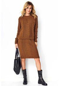Brązowy sweter Makadamia