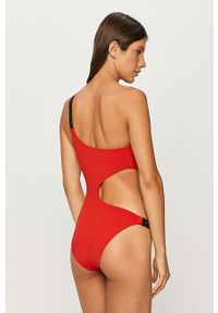 Czerwony strój kąpielowy Karl Lagerfeld z aplikacjami