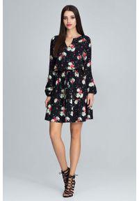 Sukienka z falbanami Figl w kwiaty
