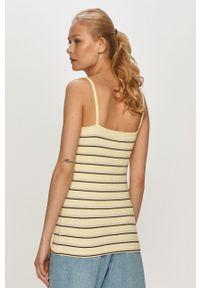 Żółty top Wrangler na ramiączkach, casualowy