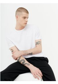 outhorn - T-shirt męski. Okazja: na co dzień. Materiał: bawełna, jersey, materiał. Styl: casual
