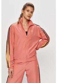 Różowa kurtka adidas Originals bez kaptura