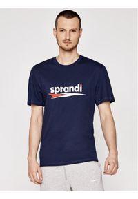 Sprandi T-Shirt SS21-TSM004 Granatowy Regular Fit. Kolor: niebieski