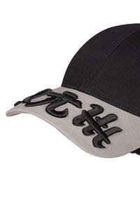 ROBERT KUPISZ - Dwukolorowa czapka ORIENT MONSHO. Kolor: szary. Materiał: bawełna. Wzór: haft