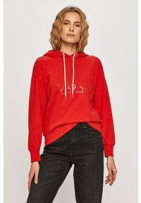 Czerwona bluza GAP z długim rękawem, długa, casualowa