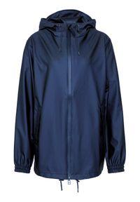 Niebieska kurtka przeciwdeszczowa Rains
