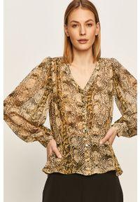 Oliwkowa koszula Morgan casualowa, długa, na co dzień
