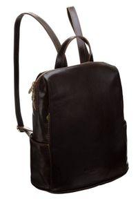 Plecak w stylu vintage brązowy Badura T_D187BR_CD. Kolor: brązowy. Materiał: skóra. Styl: vintage