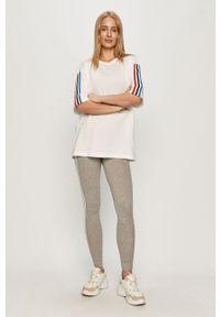 Szare legginsy adidas Originals z aplikacjami
