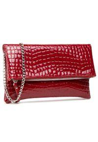 Czerwona torebka Jenny Fairy skórzana, z aplikacjami, wizytowa