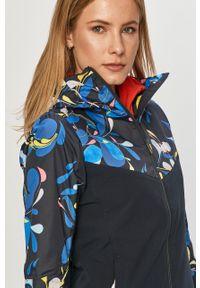 Niebieska kurtka Helly Hansen casualowa, z nadrukiem, na co dzień, z kapturem