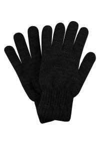 Czarne rękawiczki Pako Jeans na jesień, klasyczne