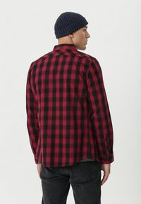 Born2be - Bordowa Koszula Deagon. Kolor: czerwony. Materiał: jeans. Długość rękawa: długi rękaw. Długość: długie