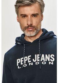 Pepe Jeans - Bluza Andre. Okazja: na co dzień. Kolor: niebieski. Wzór: nadruk. Styl: casual