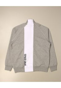 DSQUARED2 KIDS - Szara bluza na suwak 4-10 lat. Okazja: na co dzień. Kolor: szary. Materiał: bawełna. Długość rękawa: długi rękaw. Długość: długie. Wzór: nadruk. Sezon: lato. Styl: klasyczny, casual