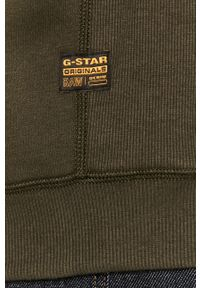 Zielona bluza nierozpinana G-Star RAW na co dzień, casualowa, bez kaptura