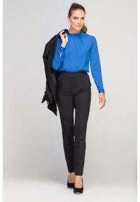 Czarne spodnie z wysokim stanem Lanti eleganckie, z podwyższonym stanem