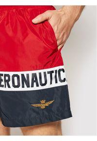Aeronautica Militare Szorty kąpielowe 211BW198CT1537 Czerwony Regular Fit. Kolor: czerwony
