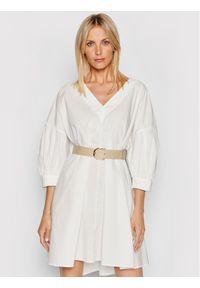 Imperial Sukienka codzienna ABWSBBD Biały Regular Fit. Okazja: na co dzień. Kolor: biały. Typ sukienki: proste. Styl: casual