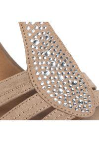 Beżowe sandały Clara Barson z aplikacjami, casualowe, na co dzień