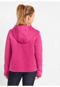 Bluza dziewczęca z kapturem i cekinami bonprix różowa magnolia. Typ kołnierza: kaptur. Kolor: różowy