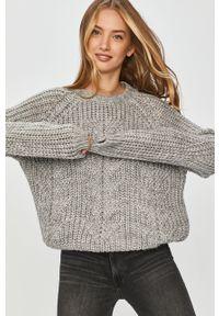 Szary sweter Answear Lab wakacyjny, z długim rękawem, na co dzień, długi