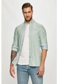 Zielona koszula TOMMY HILFIGER button down, długa, casualowa