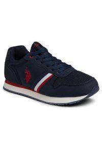 U.S. Polo Assn - Sneakersy U.S. POLO ASSN. - Sand NOBIK4246S0/TH1 Dkbl. Okazja: na co dzień. Kolor: niebieski. Materiał: skóra ekologiczna, materiał. Szerokość cholewki: normalna. Styl: casual