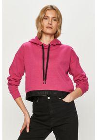 4f - 4F - Bluza. Okazja: na co dzień. Kolor: różowy. Wzór: aplikacja. Styl: casual