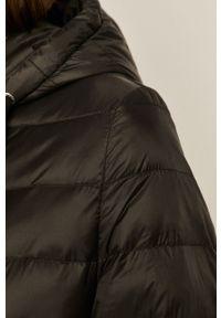 Czarny płaszcz medicine z kapturem, casualowy, na co dzień