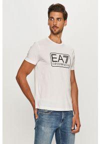 EA7 Emporio Armani - T-shirt. Okazja: na co dzień. Kolor: biały. Wzór: nadruk. Styl: casual