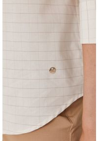 Mos Mosh - Koszula bawełniana. Okazja: na co dzień. Kolor: beżowy. Materiał: bawełna. Długość rękawa: długi rękaw. Długość: długie. Styl: casual