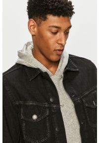 Czarna kurtka PRODUKT by Jack & Jones bez kaptura, casualowa