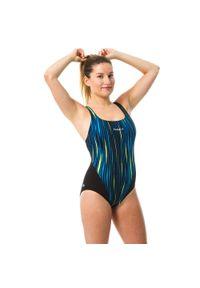 NABAIJI - Strój jednoczęściowy pływacki Kamiye ALL LINE damski. Kolor: czarny. Materiał: poliamid, materiał, poliester. Długość: długie
