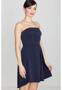 Niebieska sukienka Katrus z gorsetem, gorsetowa, elegancka #1
