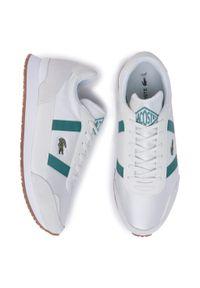 Białe sneakersy Lacoste z cholewką, na co dzień