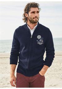 Niebieski sweter bonprix z aplikacjami