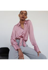 Reserved - Koszula z wiskozy - Różowy. Kolor: różowy. Materiał: wiskoza