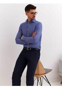 Niebieska koszula TOP SECRET casualowa, na lato