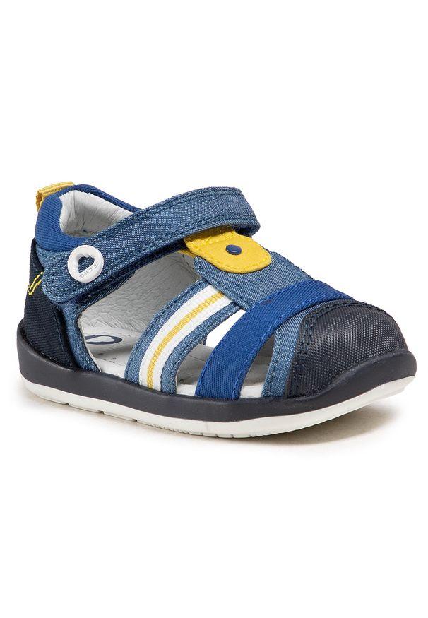 Mayoral - Sandały MAYORAL - 41.306 Jeans 41. Kolor: niebieski. Materiał: materiał. Sezon: lato. Styl: klasyczny