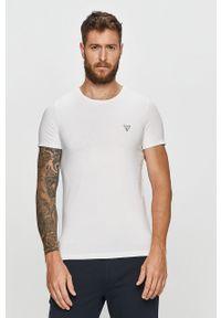 Biały t-shirt Guess Jeans casualowy, na co dzień