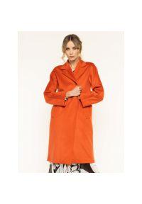 Pomarańczowy płaszcz Marella