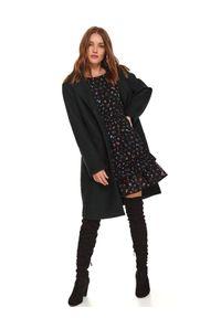 Czarna sukienka TOP SECRET casualowa, na co dzień, z dekoltem w łódkę, na jesień