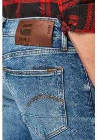 G-Star RAW - G-Star Raw - Jeansy 3301 Slim. Kolor: niebieski. Wzór: aplikacja