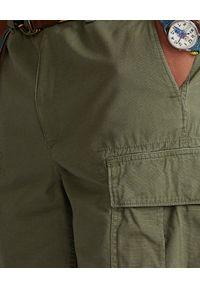 Ralph Lauren - RALPH LAUREN - Zielone spodenki Ripstop Relaxed Fit. Kolor: zielony. Materiał: bawełna. Wzór: aplikacja