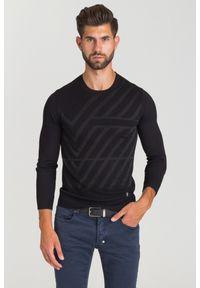 Czarny sweter Versace Collection z aplikacjami