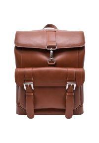 Plecak na laptopa MCKLEIN Hagen 15.6 cali Brązowy. Kolor: brązowy. Materiał: skóra. Styl: elegancki