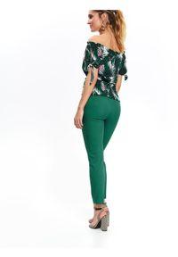 Zielona bluzka TOP SECRET na co dzień, krótka, casualowa