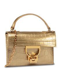 Złota torebka Coccinelle w kolorowe wzory